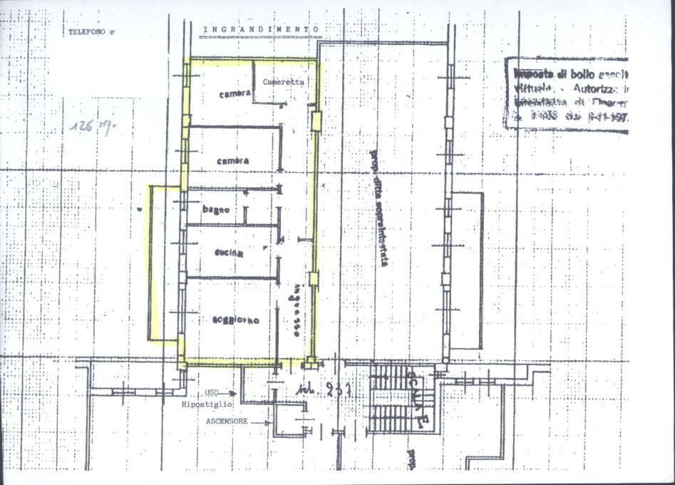 Rimini centro storico vendesi appartamento di mq.125 circa da ristrutturare